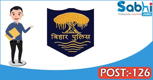 Bihar Police recruitment 126 Excise Sub Inspector
