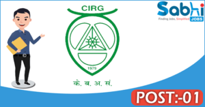 CIRG recruitment 2018 notification Apply 01 Young Professional