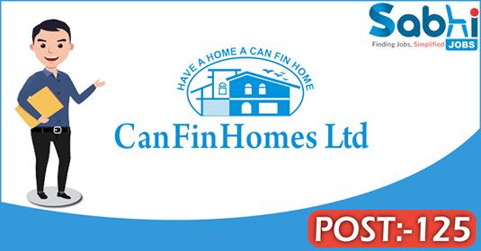Can Fin Homes recruitment 125 Junior Officer