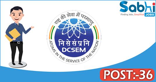 DCSEM recruitment 36 Scientific Assistant, Technician/B
