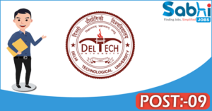 DTU recruitment 2018 notification Apply for 09 Assistant Engineer, Junior Engineer, Electrician