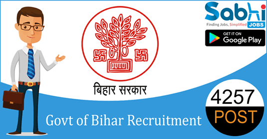 Government of Bihar recruitment 4257 Guest Teacher