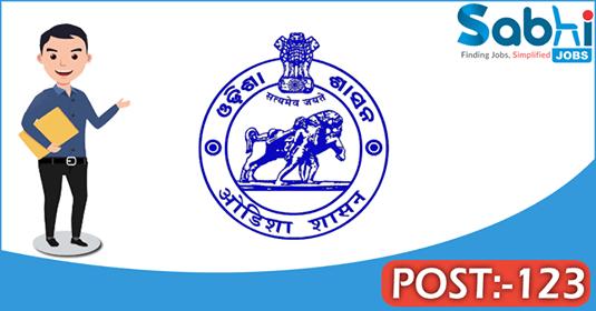 Government of Odisha recruitment 123 Hindi Teacher, Junior Clerk