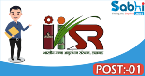 IISR recruitment 2018 notification Apply for 01 Junior Research Fellow