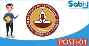 IIT Madras recruitment 2018 notification Apply 01 Project Associate