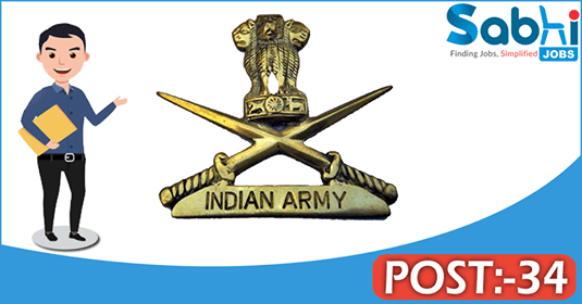 Indian Army recruitment 34 Short Service Commission