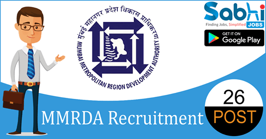 MMRDA recruitment 26 Deputy Accountant, Telephone Operator