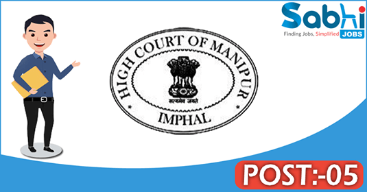 Manipur High Court recruitment 05 Law Assistant