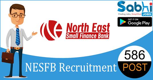 NESFB recruitment 586 Credit Officer, Single Window Operator