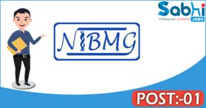 NIBMG recruitment 2018 notification Apply for 01 Technician