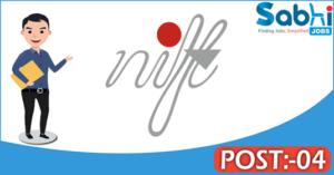 NIFT recruitment 2018 notification Apply 04 Junior Research Fellow, Field Assistant