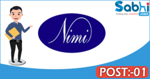 NIMI recruitment 2018 notification Apply for 01 Chief Financial Officer
