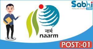 NAARM recruitment 2018 notification Apply for 01 Program Associate