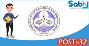 PGIMER recruitment 2018 notification Apply 32 Private Secretary, Lab Attendant