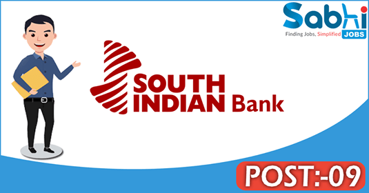 South Indian Bank recruitment 09 Probationary Legal Officers