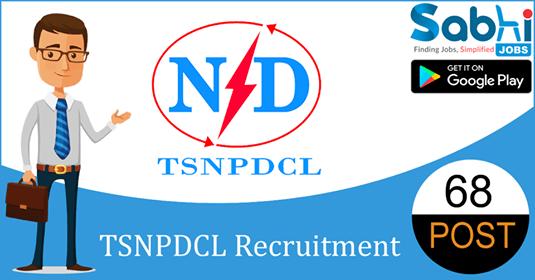 TSNPDCL recruitment 68 Assistant Engineer