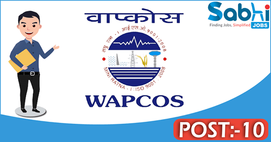 WAPCOS recruitment 10 Dy. Chief Engineer, Expert