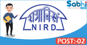 NIRD recruitment 2018 notification Apply for 02 Accounts Officer