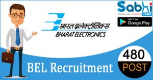 BEL recruitment 2018-19 notification apply online 480 Contract Engineer