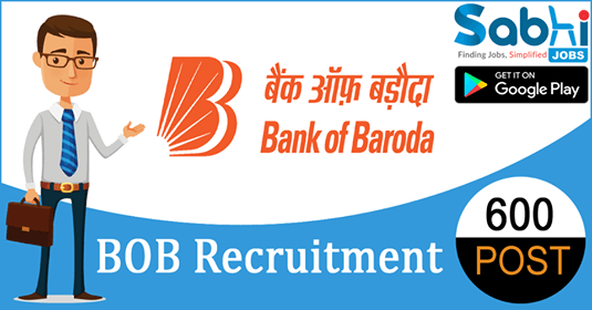 BOB recruitment 600 Probationary Officer