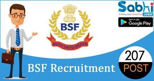 BSF recruitment 207 Constable