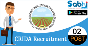 CRIDA recruitment 2018-19 notification apply for 02 Research Associate, Computer Operator
