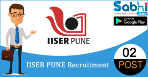 IISER Pune recruitment 2018-19 notification apply for 02 Project Assistant/ Project Fellow