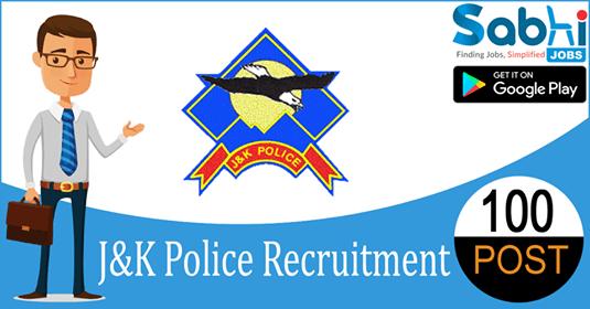 JK Police recruitment 100 Constable