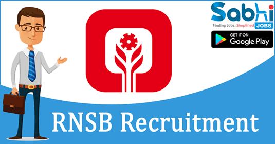 RNSB recruitment Jr. Executive/Sr. Executive