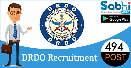 DRDO recruitment 494 Senior Technical Assistant