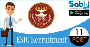 ESIC recruitment 11 Assistant Engineer, Junior Engineer