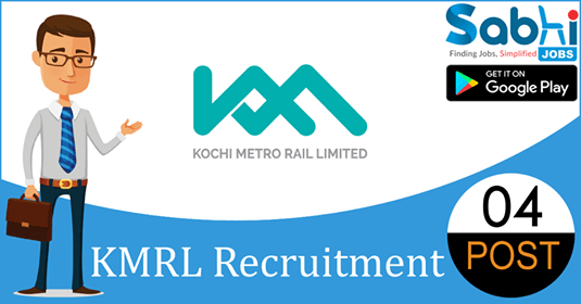 KMRL recruitment 04 Manager, Deputy General Manager