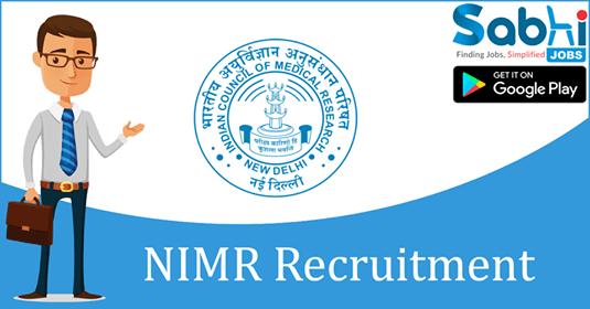 NIMR recruitment Consultant (Administration)