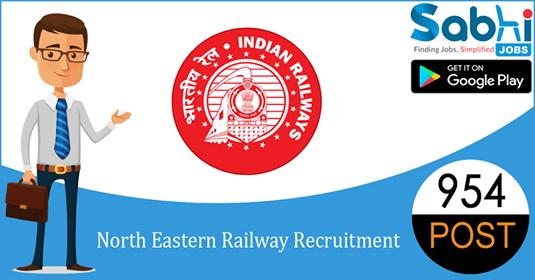 North Eastern Railway recruitment 954 Gateman