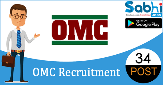 OMC recruitment 34 Mining Mate-III, Foreman