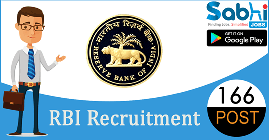 RBI recruitment 166 Officers