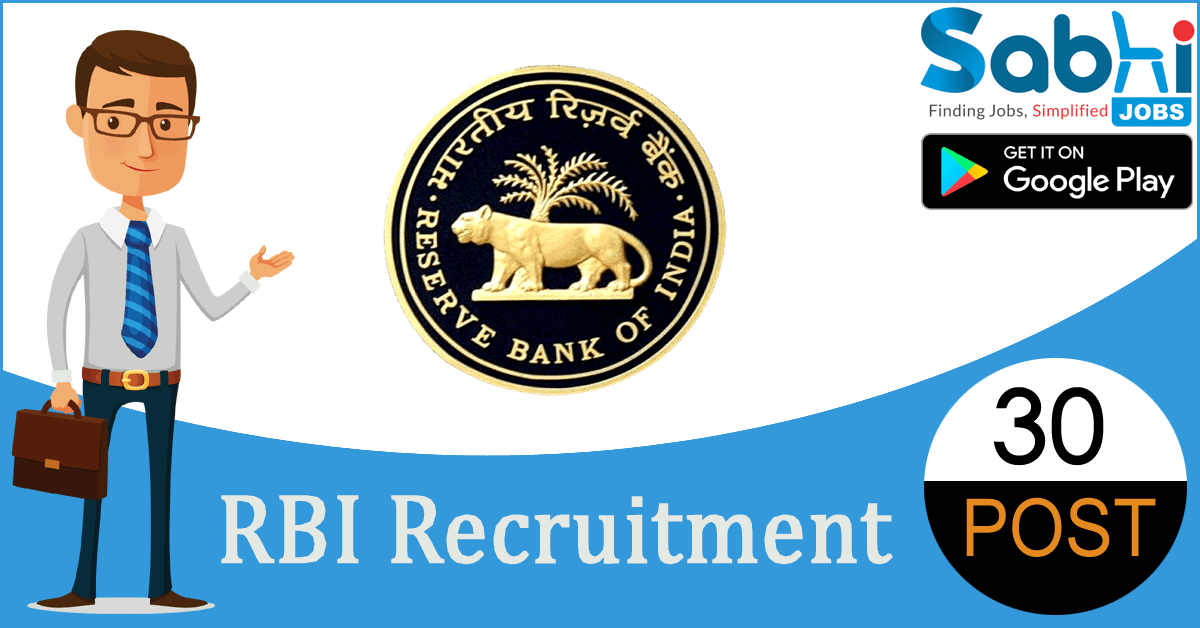 RBI recruitment 30 Manager, Assistant Manager