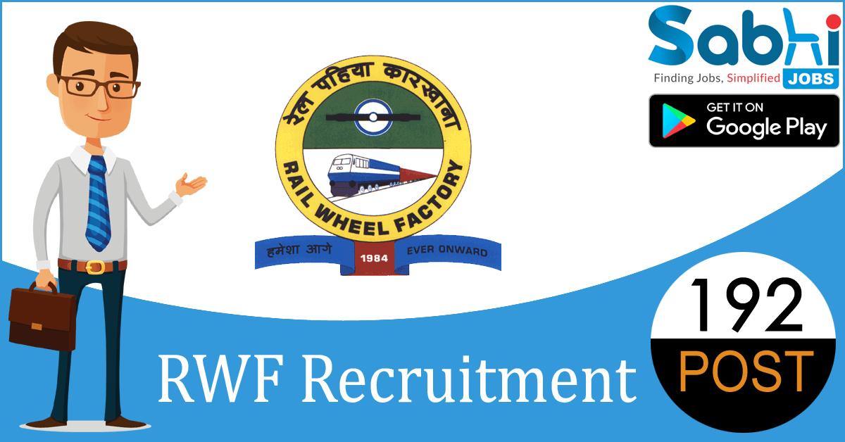 RWF recruitment 192 Trade Apprentices