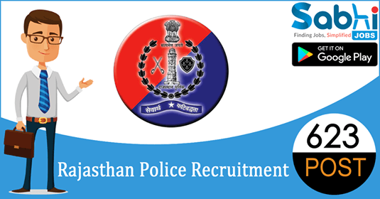 Rajasthan Police recruitment 623 Constable