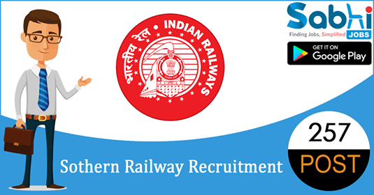 Southern Railway recruitment 257 Safaiwala