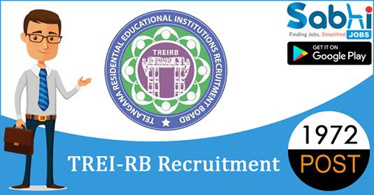 TREI-RB recruitment 1972 Post Graduate Teacher