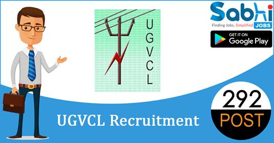 UGVCL recruitment 292 Junior Assistant, Junior Engineer