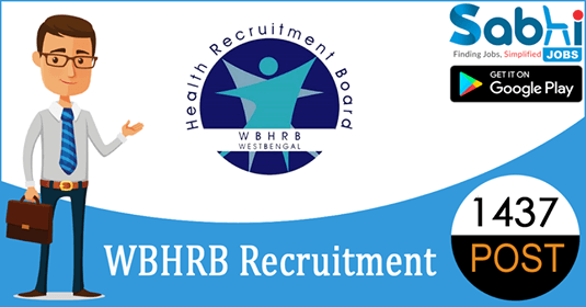 WBHRB recruitment 1437 Medical Officer