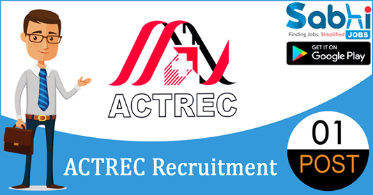 ACTREC recruitment 2018-19 notification apply for 01 Project Coordinator