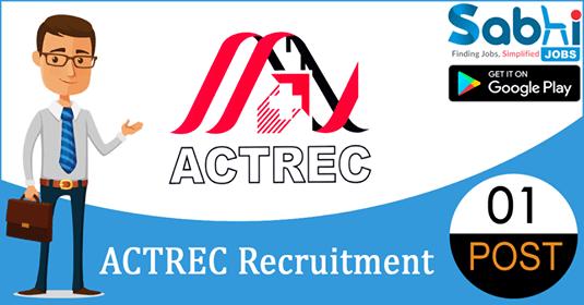 ACTREC recruitment 01 Research Assistant