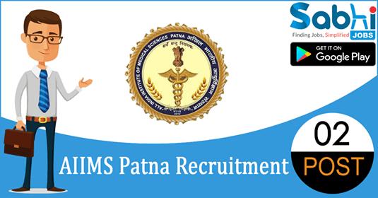AIIMS Patna recruitment 02 Junior Resident