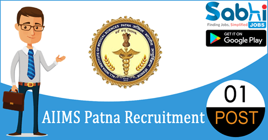 AIIMS Patna recruitment 01 Senior Resident