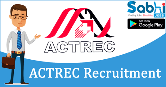 ACTREC recruitment 2018-19 notification Apply application for Pharmacist