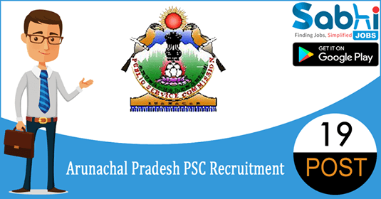 Arunachal Pradesh PSC recruitment 19 Assistant Professor