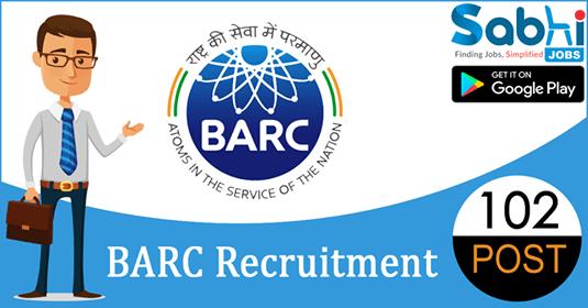 BARC recruitment 102 Stipendiary Trainees, Driver